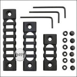 Begadi Lightweight Alu Rail Set für Keymod Systeme (60mm + 80mm + 100mm)