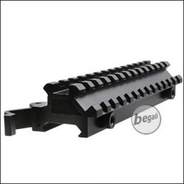 Begadi QD Riser aus Aluminium (flach, inkl. 45° Rail) - 145mm