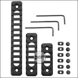 Begadi Lightweight Alu Rail Set für M-LOK Systeme (60mm + 80mm + 140mm)