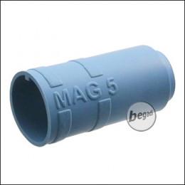 "Begadi PRO 60° ""MAG5"" AEG R-Hop Bucking / Gummi (Air Sealed, für ca. 5mm Lauffenster) -blau-"