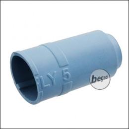 """Begadi PRO 60° """"FLY5 Regular, M14 Cut"""" AEG Flat Hop Bucking / Gummi (Air Sealed, für ca. 5mm Lauffenster) -blau-"""
