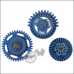Begadi HRC 13:1 High Speed Gearset (gehärtet) - Titanium Blue