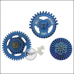 Begadi HRC 18:1 Balanced Gearset (gehärtet) - Titanium Blue