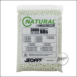 3.000 GEOFFS Natural Precision Bio -TRACER- BBs 6mm 0,30g