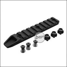 5KU Keymod / MLOK Rail, schwarz -9 Slot Version-