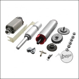 A&K M249 Repair Kit (Motor, Tappetplate, Springguide, Piston, Pistonhead, Cylinderhead, Gears, Lager und Nozzle)