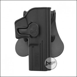 AMOMAX Paddle Hartschalen- Holster für G17 / G22 / G31 + ICS BLE etc.  [AM-G17G2]