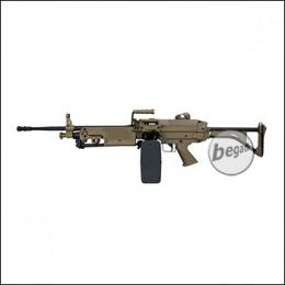 A&K M249 MK1 LMG AEG -TAN- < 0,5 J.