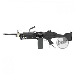 A&K M249 MK2 LMG Polarstar HPA L Version, mit F2 Engine -schwarz- (frei ab 18 J.)
