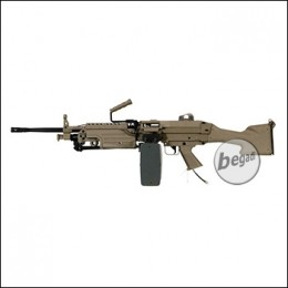 A&K M249 MK2 LMG Polarstar HPA L Version, mit F2 Engine -TAN- (frei ab 18 J.)