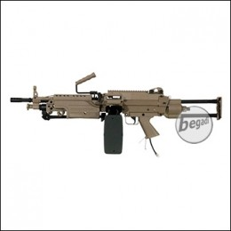 A&K M249 PARA LMG Polarstar HPA S Version, mit F2 Engine -TAN- (frei ab 18 J.)