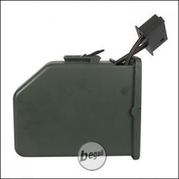 Magazin für A&K M249 Serie, groß, 2500 Schuss - olive