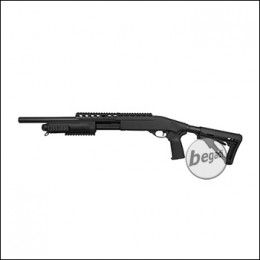 A&K SXR Long / Tactical Shotgun, mit M4 Crane Stock -schwarz- (frei ab 18 J.)