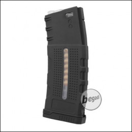 "Battleaxe M4 / M16 Polymer MidCap Magazin (150 Bbs) ""LCR Style"" -schwarz-"