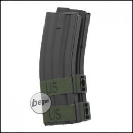 Battleaxe M4 / M16 Elektro Dual Highcap Magazin (1200 BBs) - schwarz