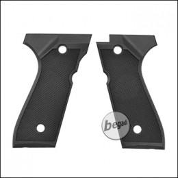 Begadi Rubber Grip Griffschalen für Cyma CM.126 AEP Serie -schwarz-