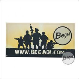 """Begadi Fahne """"Sunrise"""", Fotodruck, 60x120cm, mit Ösen"""