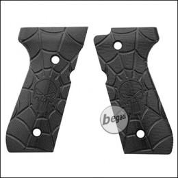 Begadi G10 Griffschalen Set für KJW / WE / Marui M9 & M92 -black skull-