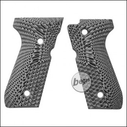 Begadi G10 Griffschalen Set für KJW / WE / Marui M9 & M92 -grau / hawk-
