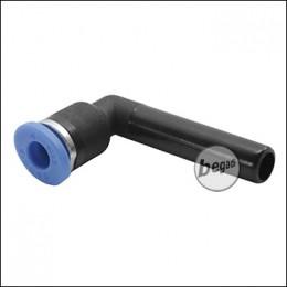 Begadi HPA 90° Adapterstück 4mm - blau/schwarz