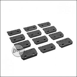 Begadi Keymod Rail Cover Set, 12 Stück -schwarz-