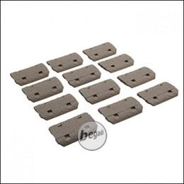 Begadi Keymod Rail Cover Set, 12 Stück -TAN-