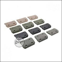 Begadi Keymod Rail Cover Set, Color Mix, 12 Stück [TAN / grau / olive / schwarz]
