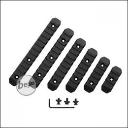 Begadi MLOK Polymer Rail Set, 6teilig - schwarz