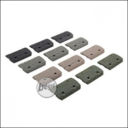 Begadi MLOK Rail Cover Set, Color Mix, 12 Stück [TAN / grau / olive / schwarz]
