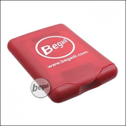 Begadi First Aid Kit (12 Pflaster, Gel, Pinzette) in roter Box