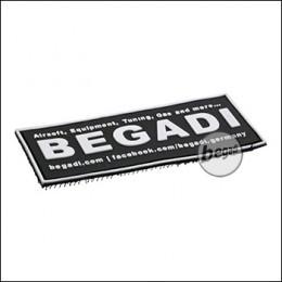 """3D Abzeichen """"Begadi Shop"""" aus Hartgummi, mit Klett  - """"Glow in the Dark"""" / nachleuchtend -"""