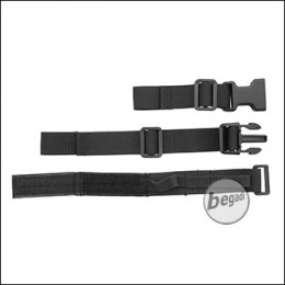 Begadi Sling Mount / Adapter mit Geschirr für Festschäfte (M16, M1A1, VSR etc.) -schwarz-