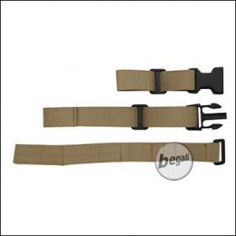 Begadi Sling Mount / Adapter mit Geschirr für Festschäfte (M16, M1A1, VSR etc.) -TAN-