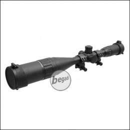 Begadi Sniper Scope / Zielfernrohr LT 4-16x50, mit bel. Absehen (rot/grün/blau), Montage & und Sonnenblende