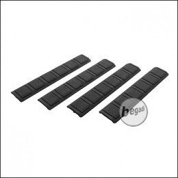 "Begadi ""Square"" KeyMod Handguard Rail Covers -schwarz- (4er Pack)"