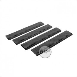 "Begadi ""Textured"" KeyMod Handguard Rail Covers -schwarz- (4er Pack)"