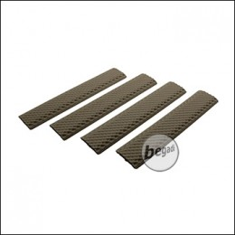 "Begadi ""Textured"" KeyMod Handguard Rail Covers -Dark TAN- (4er Pack)"