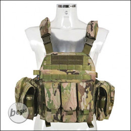 BEGADI Value Plattenträger / Plate Carrier Set, mit 5 Taschen - multicam