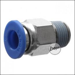Begadi 6mm Schraubeinsatz für HPA Adapter mit G 1/8 Zoll Gewinde