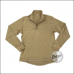 "BE-X FronTier One Baselayer Shirt ""Bambus"", lang, TAN"