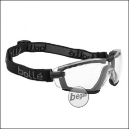 "Bollé Schutzbrille ""Cobra"", mit Schaumstoff & Kopfband, MilSpec zertifizierte BSSI Ausführung, transparent (PSSCOBR064)"