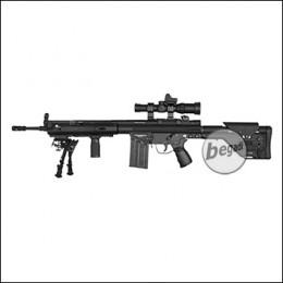 Schwaben Arms SAR M41 DMR S-AEG mit TRI RAIL Handguard, Zweibein, Zielfernrohr und Compact Dot  (frei ab 18 J.) [CABG06]