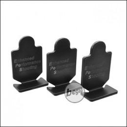 EPeS Metall Ziele / Targets, 3er Pack -schwarz- [E055-BL]