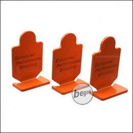 EPeS Metall Ziele / Targets, 3er Pack -orange- [E055-OR]