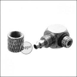 EPeS HPA 90° 4mm Schlauch Kupplung mit Schraubsicherung M5 [E057-M5-OUT]