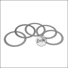 EPeS AR15 / M4 Deltaring Unterlegscheiben / Washers -Größe L-, 5er Pack (25x30mm - 0,1mm) [E205-L]