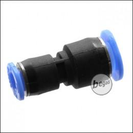 HPA Zubehör - 4mm auf 6mm Schlauch Steckadapter - schwarz/blau