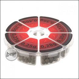 Lonex VARIO Box - Bio BB Muster Set von 0,20g - 0,40g, wieder verschliessbar