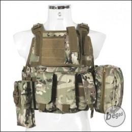 """PHX Plate Carrier / Plattenträger """"Commando"""", mit 4 Taschen - multiterrain"""