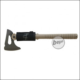 "Secutor Dummy Tactical Tomahawk ""Pugna"", aus ABS & Hartschaum -TAN-"
